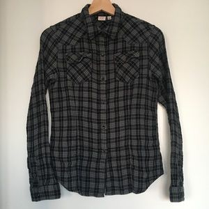 Uniqlo gray flannel shirt